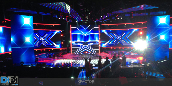 Allestimento led wall ad X-Factor 2014